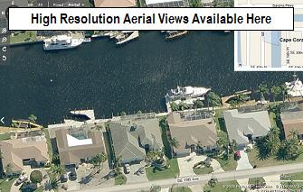 Microsoft Bird's Eye views of Savona, Cape Coral, Florida neighborhood